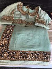 BELLISSIMO leggera pesante. Colorato INDIAN Asiatico Saree con camicetta