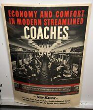 Original vintage Travel Poster Economy Coaches New Haven Railroad