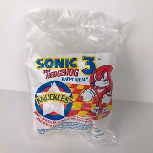 Sonic The Hedgehog Knuckles McDonalds Happy Meal Toy 1993 New Original Package
