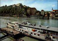 Schiffe Binnenschiffe Echtfoto-AK Ship Schiff Dampfer STADT WIEN in Passau color