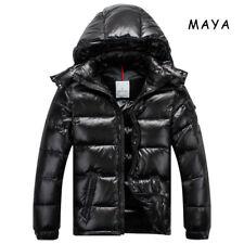 Hot Winter Warm 90 Duck Down Mens Maya Hooded Thicken Jacket Coat Puffer Parkas Shiny Black 5/xl