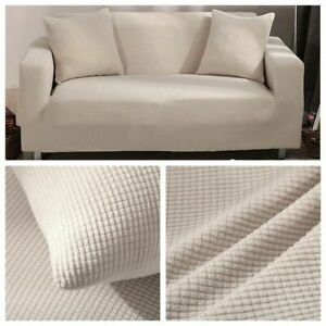 Velvet Sofa Covers For Living Room Solid Sectional Sofa Elastic Couch Cover