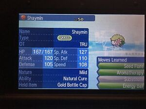 Pokemon Sun Moon Home 6IV Event TRU Shaymin Pokemon Guide with Gold Bottle Cap