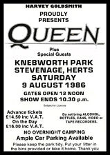 Queen Knebworth 1986 Repro POSTER
