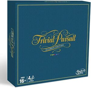 Hasbro Trivial Pursuit Classic Edition Board Game - C1940