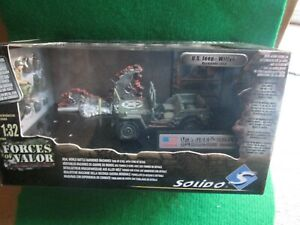 FORCES OF VALOR U.S.WILLYS JEEP (1:32 SCALE) COMBAT TANK COLLECTION LOT C63 NEW