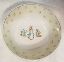 Peter Rabbit Wedgwood Frederick Warne & Co. Baby Bowl Made In England 1996