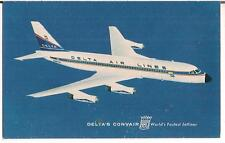 Delta Convair 880 World's Fastest Jetliner Airplane 1950s-1960s UNUSED Postcard