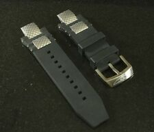 Silicone Rubber Band Strap Black For Invicta Subaqua Noma III Noma 3 - ORIGINAL