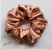 Blush Satin Scrunchies Hair Ties Ponytail Holders Women Girls New