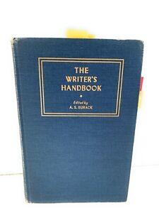 The Writer's Handbook by, A. S. Burack (editor) 1955, Blue Vintage Hardback