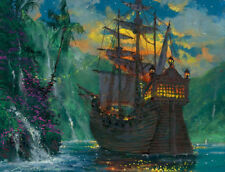 Home Decor Art Print on Canvas Anime Painting Peter Pan Neverland Bay 12X16