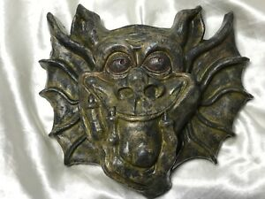1 Fine Medieval Style Stone Gargoyle Guardian Wall Hanging Home Garden Plaque