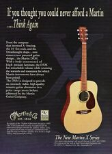2000 PRINT AD FOR Martin X Series DXM Acoustic Guitar