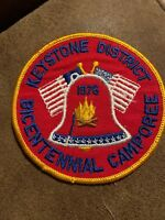 BOY SCOUT PATCH - 1976 Keystone District Bicentennial Camporee Mint