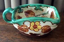 "Vintage Regina Borodi Gouda Cup w/ Handle, 1 3/4"" Tall - Green, Yellow, Brown"