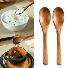Long Handle Wooden Wood Spoon Dessert Coffee Honey Stir Mix Kitchen Tool Supply