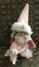 pink elf kneehugger ROSES pink hair vintage head shabby cottage romantic pixie