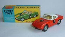 Corgi Toys No. 319, Lotus Elan Coupe No. 7., - Superb