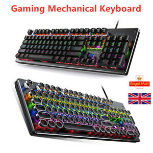 RGB Led Gaming Mechanical Keyboard 104 Keys USB Wired for PC Laptop PS4 Xbox LOL