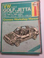 VW GOLF JETTA MK2 MKII HAYNES WORKSHOP MANUAL GTI C CL GL FORMEL E 16V 1984-90