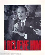 Vintage 1972 George McGovern I BELIEVE HIM Artist-Signed Campaign Poster (2687)