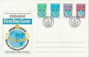 Rotary International Zimbabwe First Day Cover 1980 Africa
