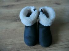 GIRLS GENUINE UGG BOOTS BLACK  TODDLERS SIZE 5  VGC
