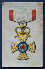 THE ORDER OF INDEPENDANCE MONTENEGRO War Medals issued 1911 Wills SILK Card
