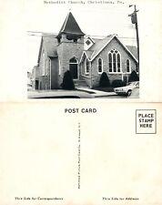 CHRISTIANA PA METHODIST CHURCH VINTAGE POSTCARD