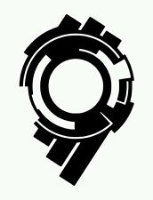 Ghost In The Shell S.AC. Section 9 Vinyl Sticker BLACK GLOSS 10 x 6.7cm
