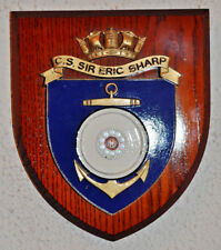 CS Sir Eric Sharp ward room shield plaque crest Merchant Navy MN cable ship