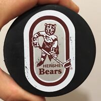 Vintage Hershey Bears Two-Sided Ice Hockey Logo Puck AHL Minor Leagues