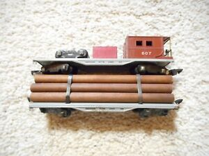 S SCALE AMERICAN FLYER #605 AND 607 FREIGHT CARS
