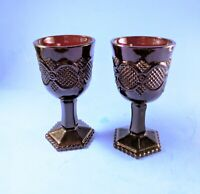 2 Vintage 1970s Avon 1876 Cape Cod Ruby Red Wine Glasses Goblets