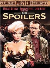 The Spoilers DVD JOHN WAYNE MARLENE DIETRICH RANDOLPH SCOTT
