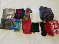Scarf Lot of 11 Assorted Styles Sizes Material Pre-owned