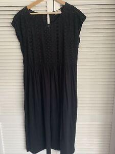 Hush Black Broderie Dress large