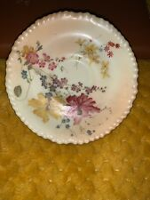 Antique Blush Ivory Royal Worcester Summer Flowers Coffee Saucer 12.2cms
