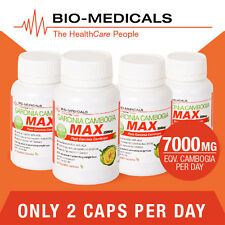 TGA LISTED 4 X 60 CAP PURE GARCINIA CAMBOGIA MAX! SUPER STRENGTH - 240 CAPS