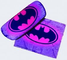 DC Heroes Eyeglass Case with Cleaning Cloth - Batman Logo (Pink/Purple Case)