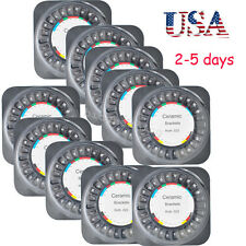 10 Boxes Dental Orthodontic Braces Ceramic Bracket Roth 022 Slot 3 4 5 w/ Hooks