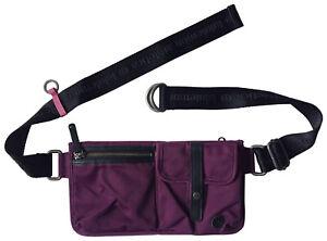 LULULEMON Dog Walker Belted Fanny Pack / Multi-Comparment / Grape Purple Nylon
