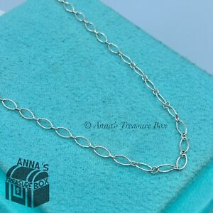 """Tiffany & Co. 925 Silver Oval Link 18"""" Necklace (pouch)"""