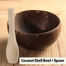 Bamboo Natural Coconut Shell Bowl Spoon Scoop Handmade Candy  Baby Food Set