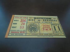 1967 ARKANSAS AT RICE COLLEGE FOOTBALL TICKET STUB EX-MINT