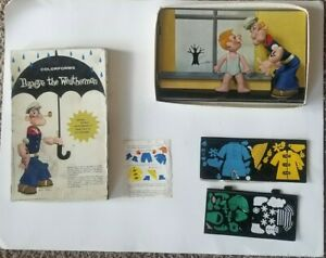 Vintage 1959 Popeye The Weatherman Colorforms Toy