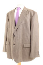 "M&S TAILORING ""SOFT TOUCH"" KHAKI TEXTURED MEN'S SPORTS JACKET 50R DRY-CLEANED"