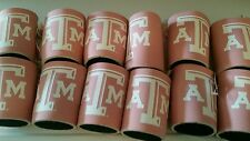 Lot of 12 PINK Texas A&M. Aggies  NCAA can Koozies FREE SHIPPING