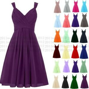 Knee Length Evening Prom Party Dress Bridesmaid Dresses Ball Gown Cocktail 6-26